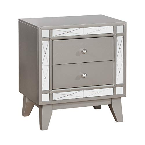 Coaster CO- Nightstand, Metallic Mercury