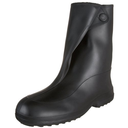 Tingley Rubber 10-Inch 1400 Rubber Overshoe with Button Boot,Black,Large