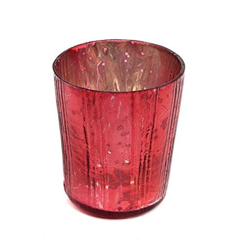 Insideretail Wedding Teal Ight Holders, Vetro, Red, 7x 7x 7cm, 24unità