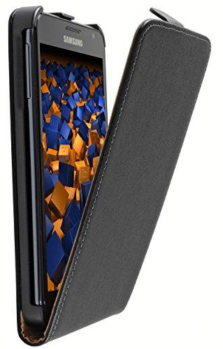 mumbi Tasche Flip Case kompatibel mit Samsung Galaxy Note Hülle Handytasche Case Wallet, schwarz