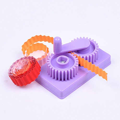 Cuziss Purple Hand-Operated Quilling Crimper, Paper Slip Wave Shape Making Tool DIY Making Tool, Quilling Tool with Little Storage Case