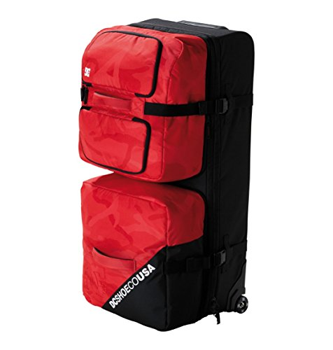 DC Shoes Mens Dc Shoes Transformer - Large Travel Bag With Detachable Top Compartment - Men Red Camo One Size