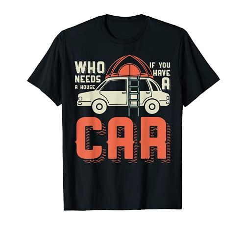 Mini Camper mit Dachzelt und Leiter Camping Camper T-Shirt