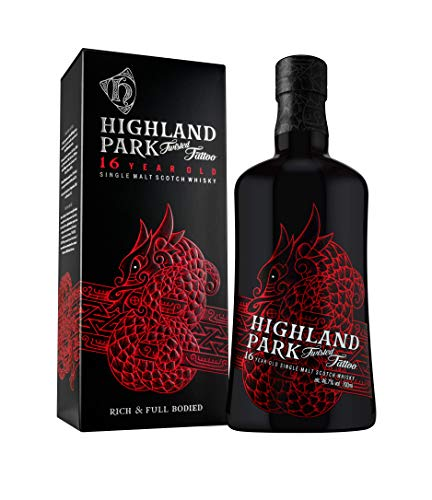 Highland Park 16 Jahre Twisted Tattoo Single Malt Scotch Whisky (1 x 0.7 l) – Limitierter Premium Whisky, mit leichter Torfnote