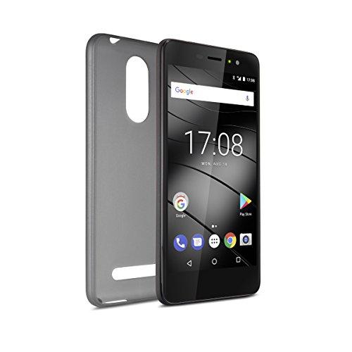 Gigaset Smartphone Hülle - Protective Case - Schutzhülle - anti-scratch - Handy Schutz -Rundum-Schutz Zubehör - Cover Shell - für GS170 - Grey