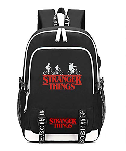 DarkT S-Stranger Thing-s Backpack, Luminous School Bag, Laptop Backpack With USB Charging Port, Unisex College Daypack