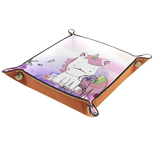 MUMIMI Vanity Tray, Toilet Tank Storage Tray, Resin Bathtub Tray Bathroom Tray, Cute Watercolor Pink Unicorn Baby