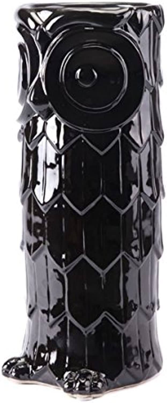 Zuo A10004 Owl Umbrella Stand Black