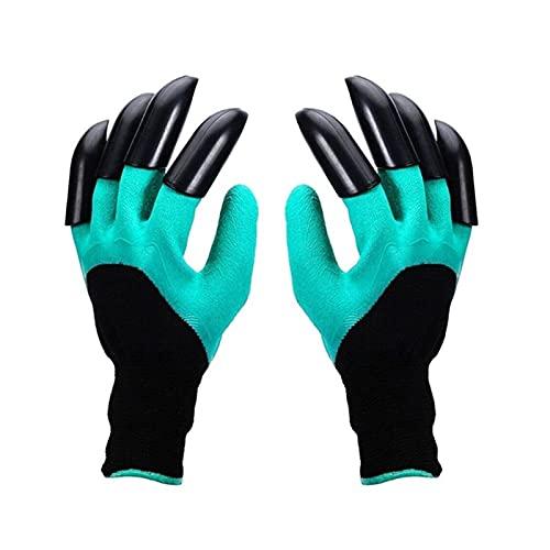 Hand klauw groene plastic tuin rubberen handschoenen tuinieren gemakkelijk voor het graven van het planten van…