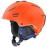 uvex p1us 2.0 Casco de esquí, Adultos Unisex, Naranja/Azul, 52-55 cm