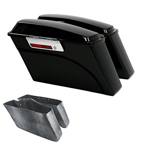TCMT Hard Saddle bags Saddlebag Trunk + Lid Latch Keys Fits For Harley Davidson Road King Glide Softail DYNA 1994-2013