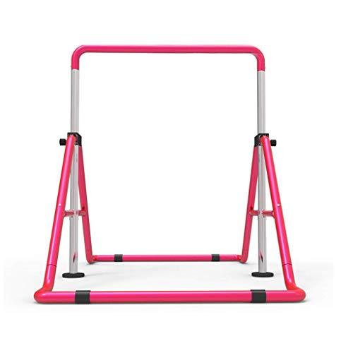 HFYAK Fitness Klappbarer Kinder-Reck Gymnastikriegel Kinderausstattung Verstellbarer Junior-Trainingsriegel Kinderschaukel Lieblingsgeschenk für Kinder
