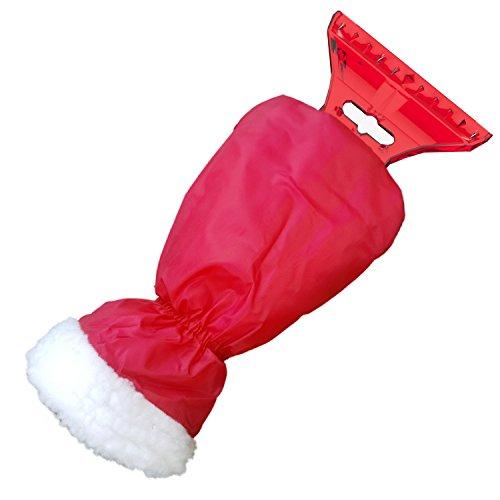 AUPROTEC Eiskratzer mit Handschuh, gefüttertes Innenfutter, umschließender Gummizug, mit Eisbrecherkante, rot