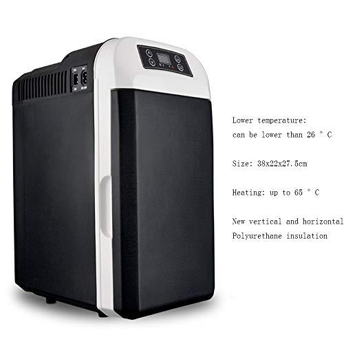 Xyanzi Mini-Kühlschränke Kleiner Kühlschrank Fürs Auto, 25-Liter-Mini-Getränkekühlschrank Mit Digitalem Thermostat + Dual-Core-Kühlung for Pkw-Roadtrips Büros und Schlafsäle for Privathaushalte