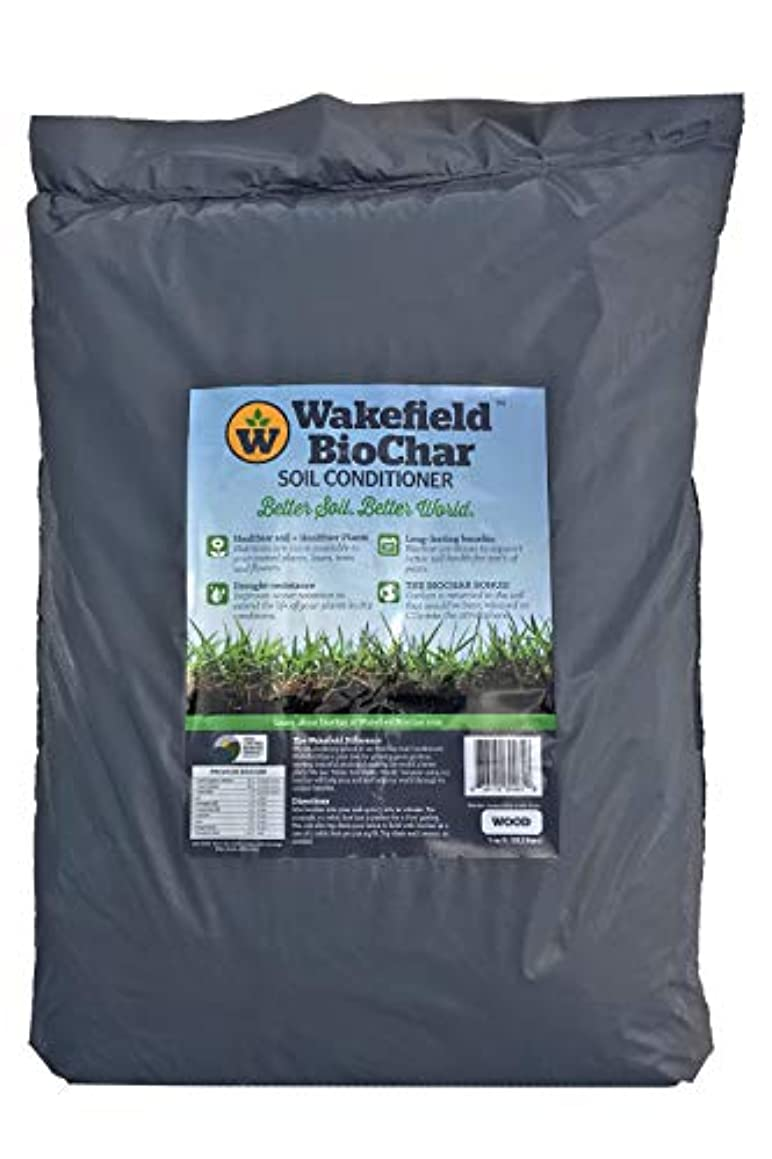 Wakefield Biochar Soil Conditioner - Premium - 1 Cu/Ft Bag (7.5 Gallons) - 100% Biochar - USDA Certified