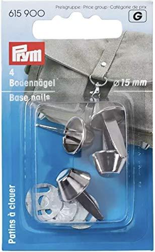 Prym 615900 - Bodennägel für Taschen 15 mm silberfarbig