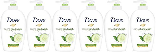 Dove Caring Hand Wash, Fresh Touch Cucumber & Green Tea, 8.45 Fl Oz (Pack of 6)