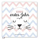 Babyalbum: Unser erstes Jahr. Babytagebuch in rosa und blau zum Ausfüllen für Mädchen & Junge....
