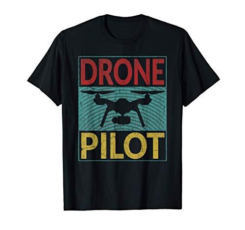 Drone Pilot Shirt RC Quadcopter Drone Operator Retro Drones Camiseta