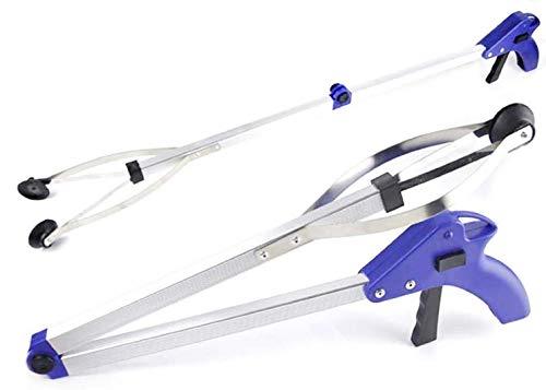 Klappbares Greifwerkzeug - 83 x 12,5 cm - Aluminium Mülleimer Picker Greifer mit Kunststoffgriff - Trigger-Action Design - Gummisauger Greifer | Heimwerkerwerkzeuge