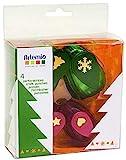 Artemio - Set di 4 perforatrici, Motivo Natalizio, Multicolore