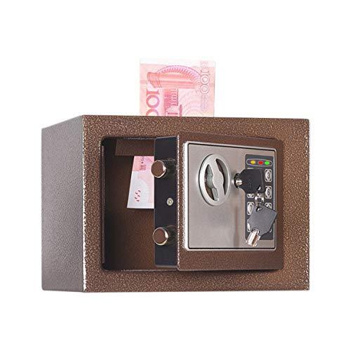 Morninganswer Hogar 17E Caja de Seguridad pequeña Caja de Seguridad de Pared pequeña Contraseña de mesita de Noche con Cerradura Caja de Seguro Regalo