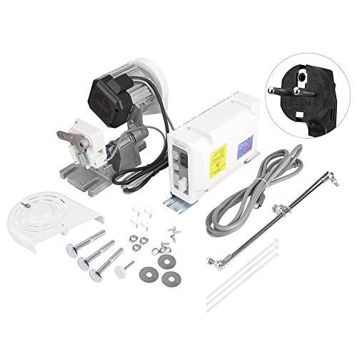 Motor de máquina de coser industrial Servomotor de ahorro de energía Motor de accionamiento servo 550W 5000rpm 5.0N.m para máquinas de coser industriales, domésticas y eléctricas(Enchufe de la UE)