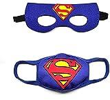Superhero Face Mask,Safety Face Mask For Boys, Kids Cartoon Face Mask Comfortable And Reusable Mask. (SUPERMAN)