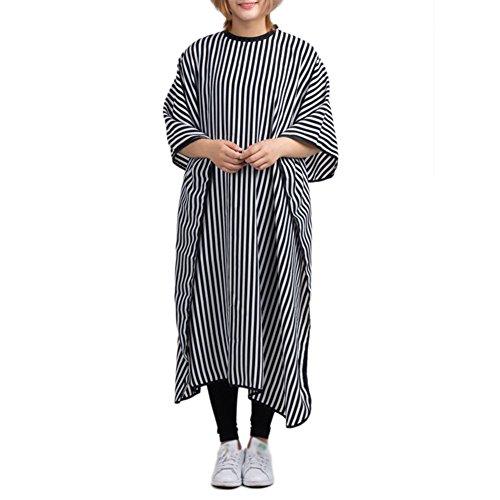 Tianxiangjjeu haarknippel slabbetjes, stijlvolle gestreepte haarknit sjaal voor, lang en kort naadloos multi