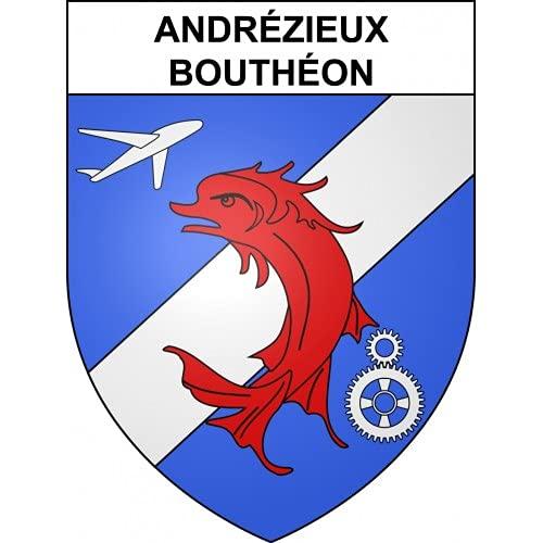 Andrézieux-Bouthéon 42 ville sticker blason écusson autocollant adhésif - Taille : 17 cm
