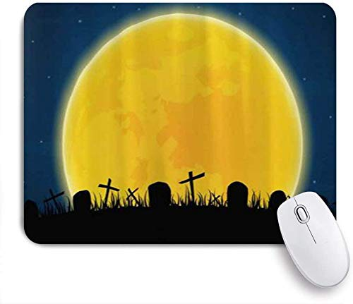 Gaming Mouse Pad Custom Halloween Grab Grabstein Hexe Fledermaus Dead Tree Spinnennetz rutschfeste Gummibasis Office Mousepad Mat Desk