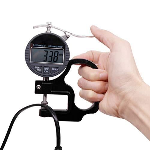 WNTHBJ percentage digitale diktemeting, diktemeter/instrument/meter/0,01 mm papierfilm lederen horloge