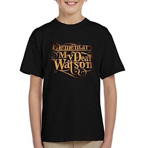 Cloud City 7 Elementary My Dear Watson Sherlock Holmes Quote Kid's T-shirt