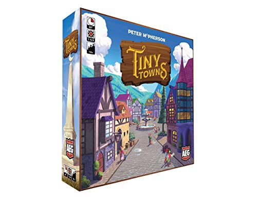 Tiny Towns: Original (AEG07053), 1-6 Players, 45-60 min Play Time, Strategy Board Game for Ages 14 and Up, Cleverly Plan & Construct a Thriving Town