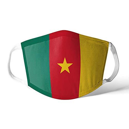 M&schutz Maske Stoffmaske X Groß Notleidende Flagge Kamerun/Kameruner Wiederverwendbar Waschbar Weiches Baumwollgefühl Polyester Fabrik