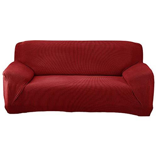 Funda Sofá Elasticas Antiarañazos de Terciopelo,Universal Funda Cubre Sofas Ajustables con Cuerda de Fijación Color Sólido Protector de Sofá o Sillón Fundas Decorativas para Sofá C 4 Plaza