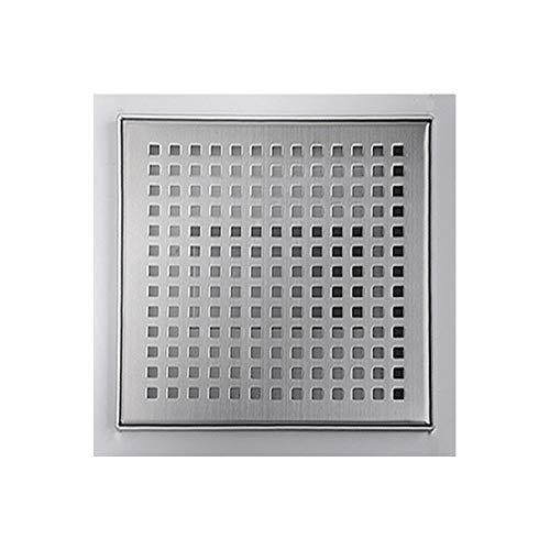 Edelstahl Bodenablauf Duschablauf Ablauf Siphon Dusche Quadratisch 12-20 cm 3 Muster Auswahl Sanlingo, Größe:15 x 15 cm, Design:Gitter