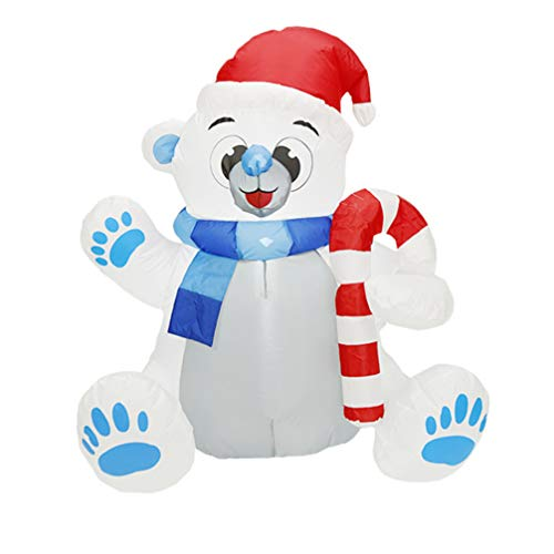 BESPORTBLE Christmas Inflatable Bear with Light Blow up Santa Polar Bear LED Lighted Christmas Inflatable Toy for Holiday Xmas Indoor Outdoor Yard Lawn Decorations -  FK0736EQ11KA
