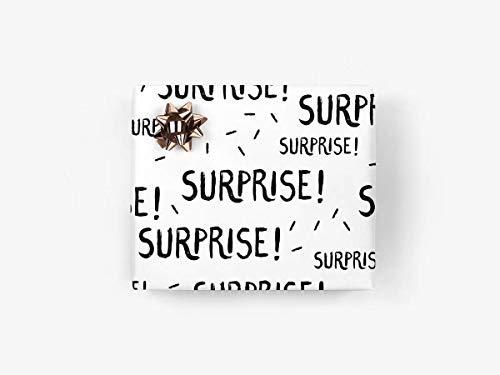 5 Bögen Geschenkpapier - Surprise - von typealive - zweiseitige Geschenkbögen für Geburtstage im Format 50x70 cm
