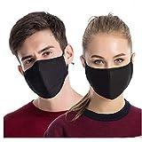 ZWCC Maschere Antipolvere 3Pcs, Maschera Antigas Riutilizzabile in Cotone Unisex Anti-Polline per...