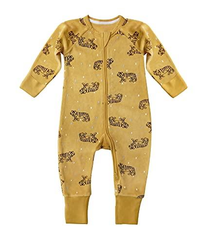 Dim Pyjama bébé Velours Juego de Pijama, Tigre Amarillo, 24 Meses para Bebés