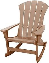 Original Pawleys Island Cedar Durawood Sunrise Adirondack Rocking Chair, Eco-Friendly Durawood, Stainless Steel Hardware, Fit N Finish, Handcrafted in The Carolinas