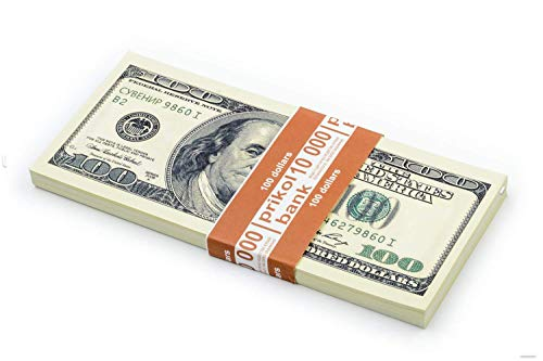 Olshop Prop Money 100 Dollar Bills, Realistic Fake Money, Copy Play Money for Game and Pranking
