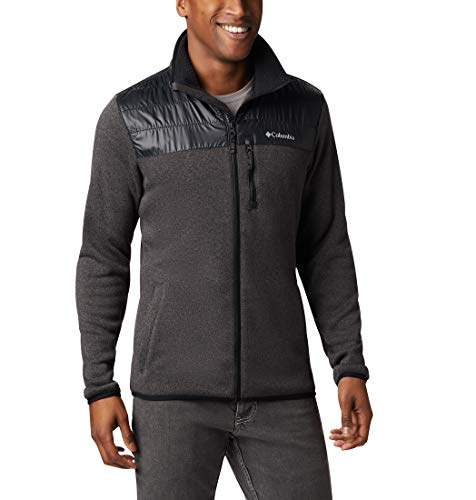 Columbia Canyon Point Felpa con Cappuccio e Zip, Uomo, Nero (Black), XL