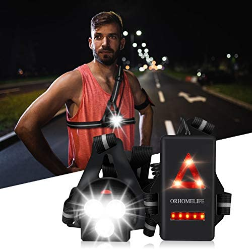 Upgrade Chest Running Light for Runners Joggers ORHOMELIFE Outdoor Night Safety Run Light with product image