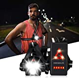 Upgrade Chest Running Light for Runners & Joggers - ORHOMELIFE Outdoor Night Safety Run Light with 3 XPG LEDS, 500Lumen, USB Rechargeable, 120° Adjustable Beam for Camping, Running, Jogging, Hiking