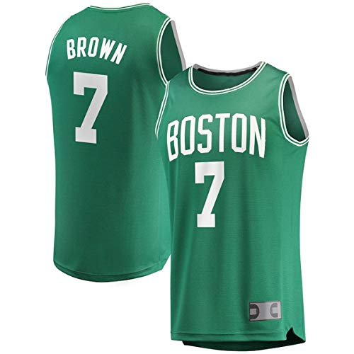 DODE Jerseys De Entrenamiento De Baloncesto Al Aire Libre Jaylen Celtics NO.7 Boston Brown Fast Break Jersey Kelly Verde - Edición Icono