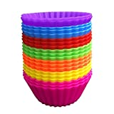 Perfect Pricee Silicone Baking Cup Cake/Muffin Mould/Oven Safe Set (Multicolour) -12-Pieces