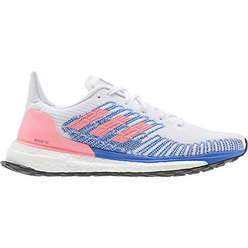 adidas Damen Solar Boost St 19 W Laufschuhe, FTWR White/Light Flash RED/Glory Blue, 39 1/3 EU