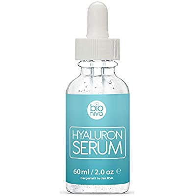 The best Hyaluronic Acid Serum with Vitamin C + Green Tea + Vitamin E. All Natural Anti-Aging + Anti-Wrinkle + Collagen Boosting face serum with organic ingredients for all skin types. 60ml (2oz) from Bionura